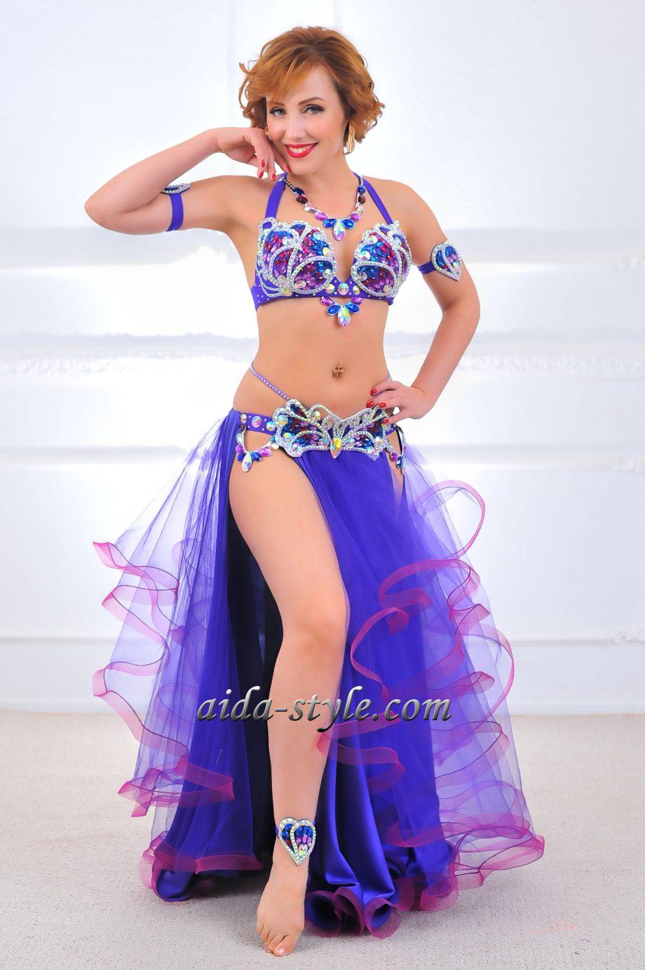 purple belly dancer costume