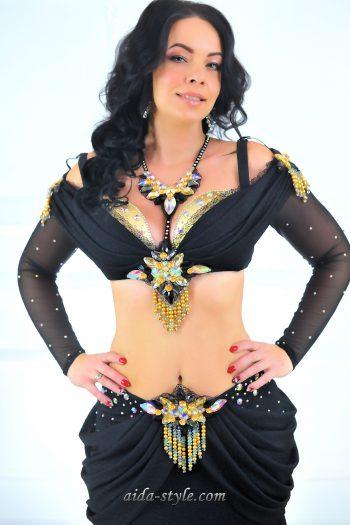 black belly dancing costumes