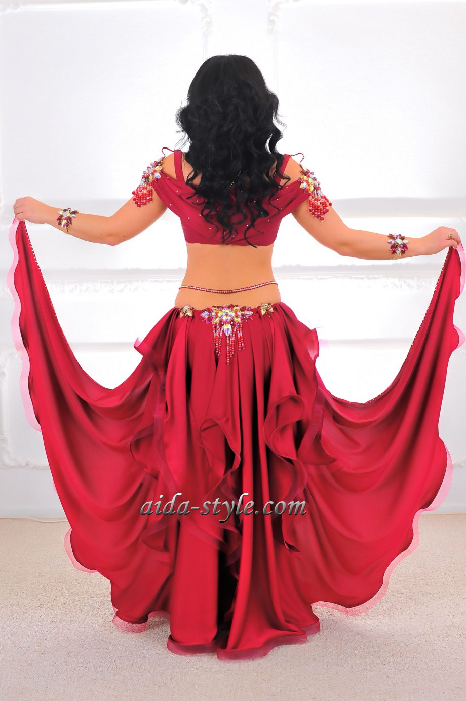 professional belly dancing outfits red