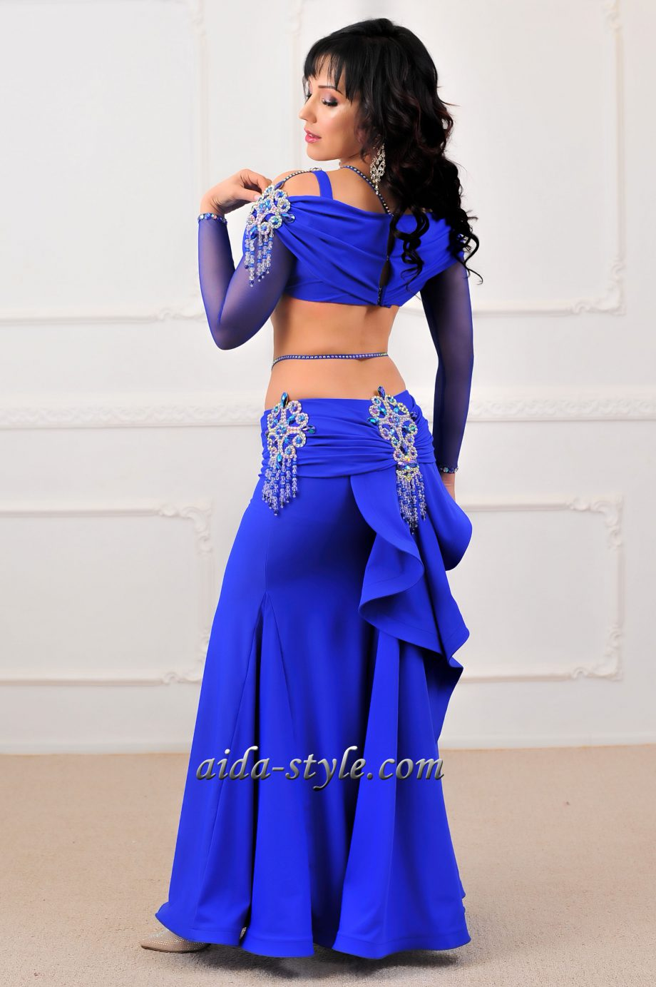 blue belly dancer outfit