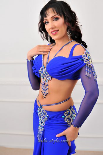 blue belly dance costumes