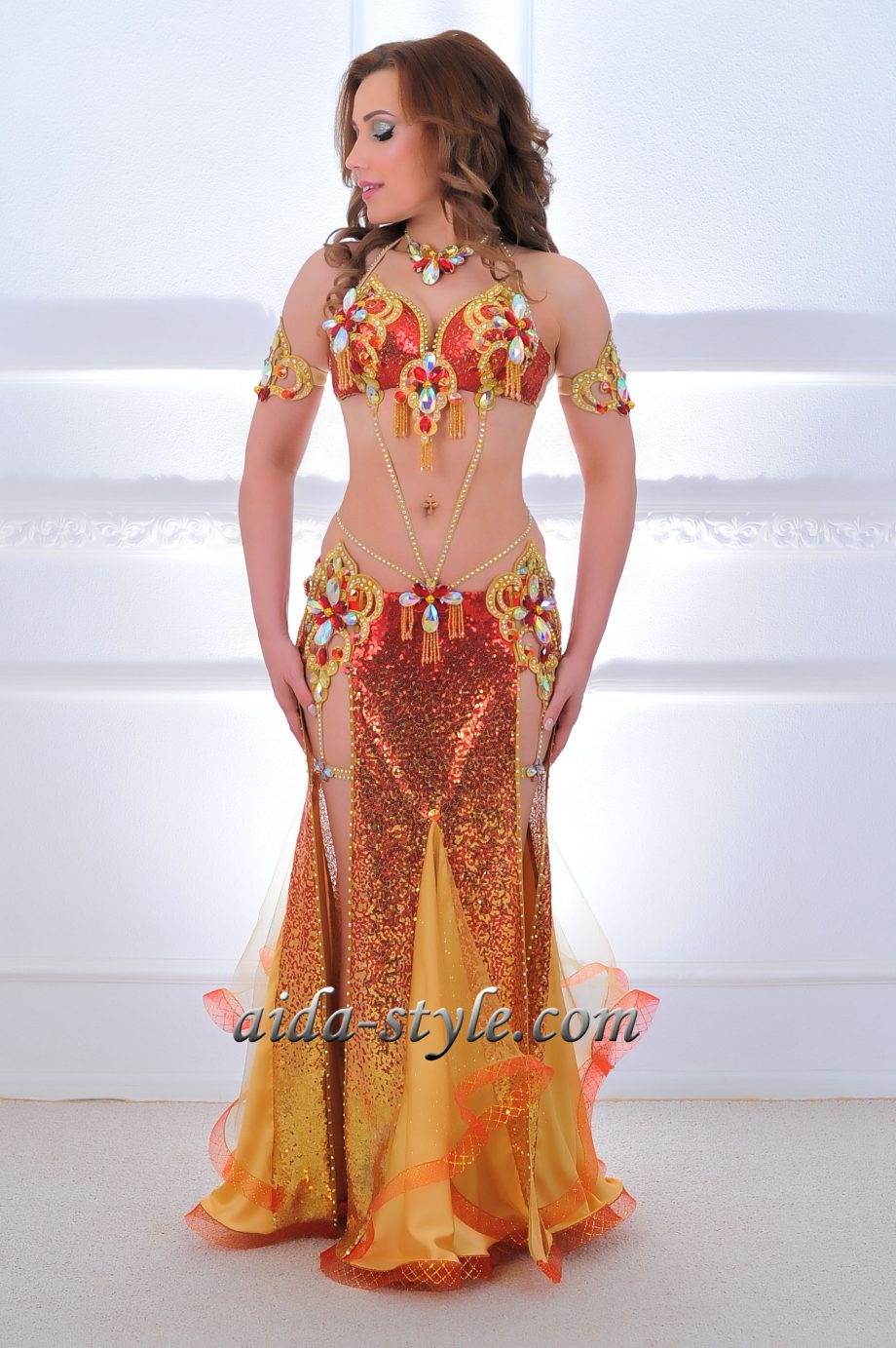 red belly dancing costume