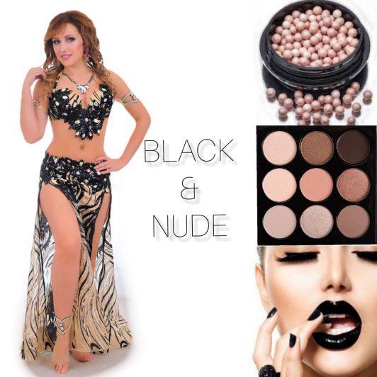 transparent black belly dance costume