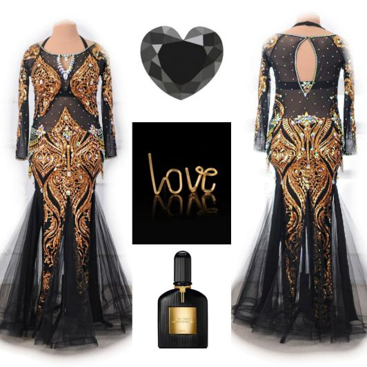 black belly dance plus size dress