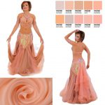 belly dance costume peach color