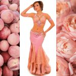 belly dance costume pink