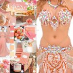 belly dance costumes rose gold