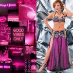 fuchsia belly dance costume
