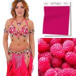 hot pink belly dance costume