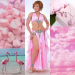light pink belly dance costume