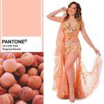 peach belly dance costume