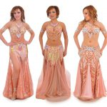 peach belly dance costumes