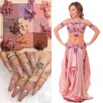 pink belly dance costume