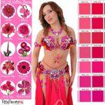 pink belly dance costume set