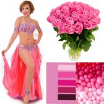 pink belly dance outfit