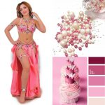 pink belly dancing costume