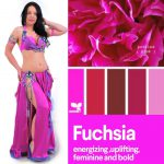 pink fuchsia belly dance outfit