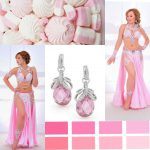 pink belly dance costumes