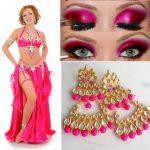 rose belly dance costume